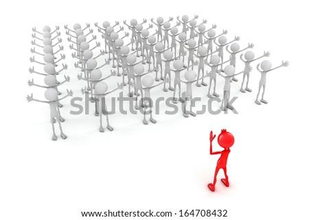 volunteer, Team Leader - stock photo