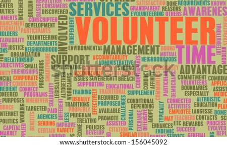 Volunteer Work and Helping out to Give Aid - stock photo