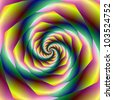 Vortex/Digital abstract image with a spiral design in yellow, pink and green. - stock photo