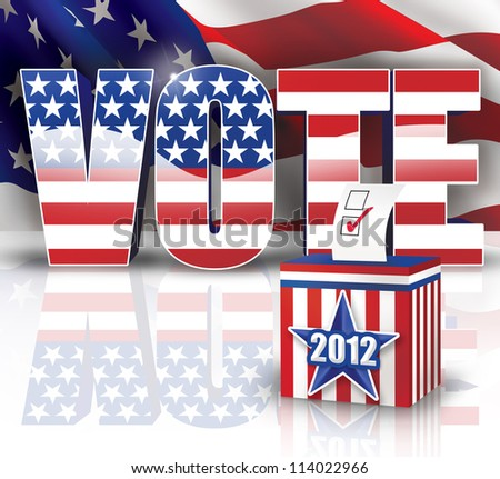 Vote 2012 - stock photo