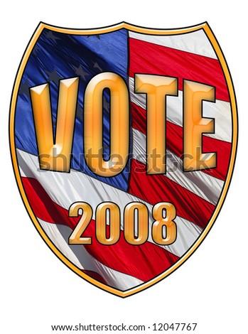 Vote 2008 - stock photo