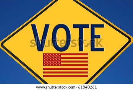 Vote American flag - stock photo