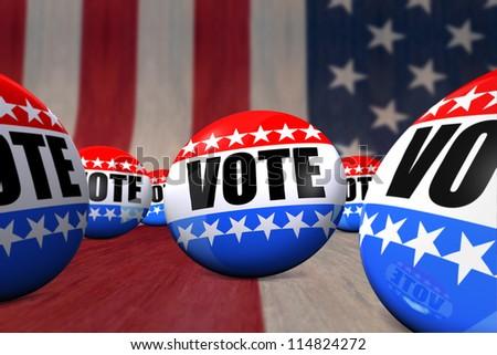Vote Badges - stock photo