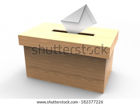 vote box - stock photo