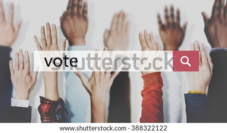 Vote Campaign Democracy Volunteer Concept - stock photo