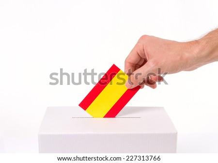 Vote catalonia independence, white background - stock photo