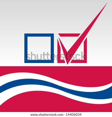 Vote graphic with blue checkmark in JPEG/TIFF format (Image ID for vector version: 14317333) - stock photo