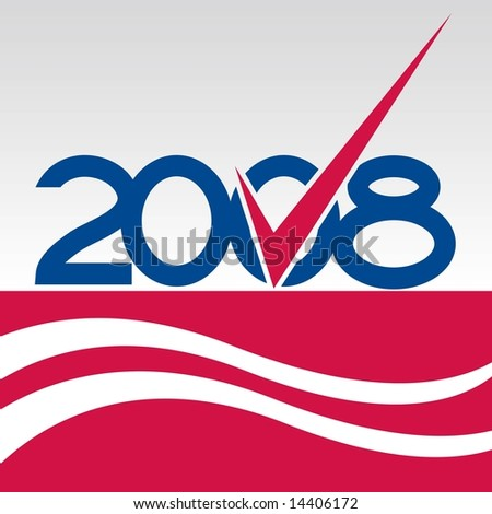 Vote graphic with blue checkmark in JPEG/TIFF format (Image ID for vector version: 14317327) - stock photo