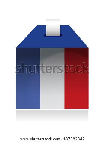 vote in france. illustration design over a white background - stock photo