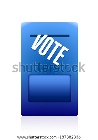 vote mailbox illustration design over a white background - stock photo