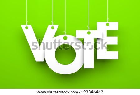 Vote metaphor - stock photo