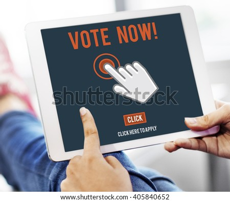 Vote Now Election Polling Political Concept - stock photo