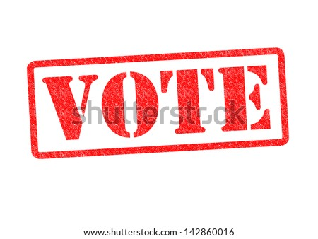 VOTE Rubber Stamp over a white background. - stock photo