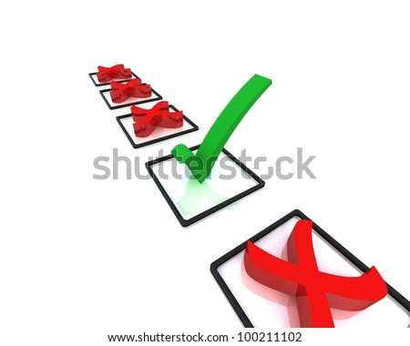Voting/survey concept isolated on white background
