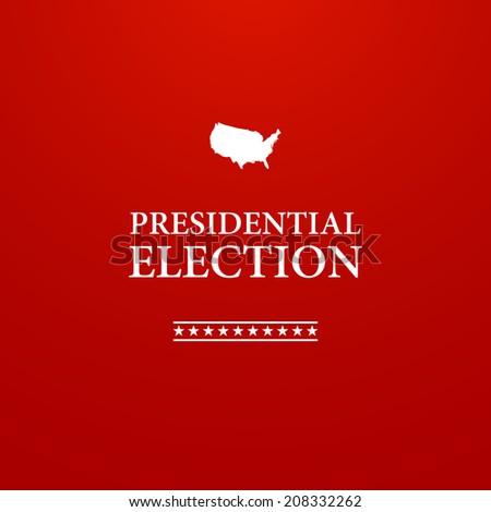Voting Symbol design presidential election - stock photo