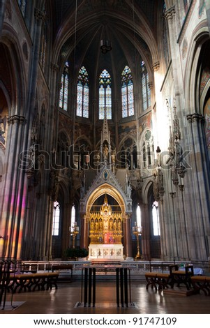 Votive Church (Votivkirche) in Vienna, Austria. - stock photo