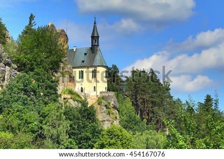 Vranov castle in Czech republic - stock photo