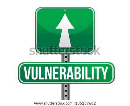 vulnerability road sign illustration design over a white background - stock photo