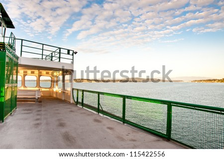 WA state ferry from Anacortes to Orcas Island - stock photo