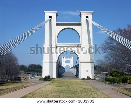 Waco Suspension Bridge - stock photo