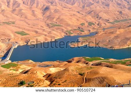 Wadi Al Mujib dam - stock photo