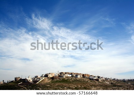 Wadi Mujib in Jordan - stock photo