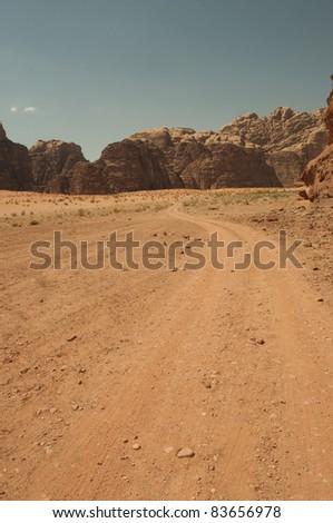 Wadi Rum Desert - stock photo