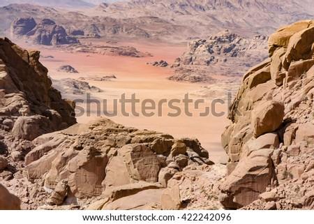 Wadi Rum Jordan - stock photo