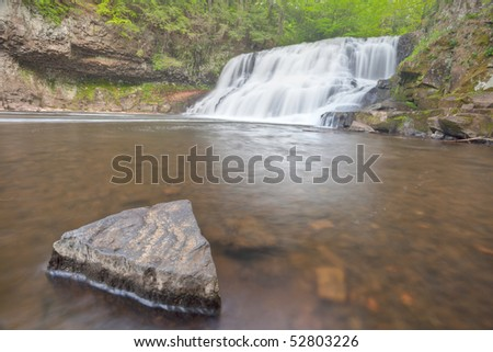 Wadsworth Falls during Springtime HDRI Image Horizontal - stock photo