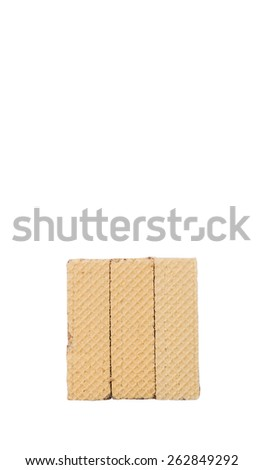 Wafer bar biscuit over white background