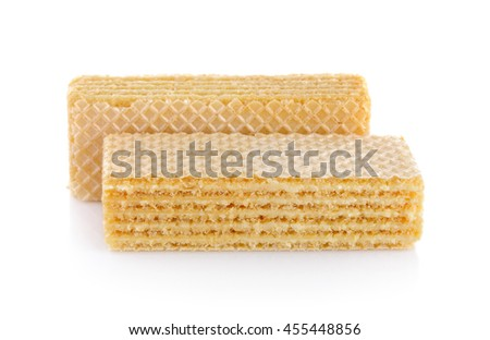wafer dessert on white background