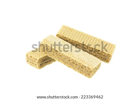 Wafers on white background - stock photo
