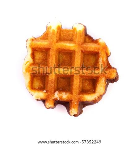 waffle on white background - stock photo