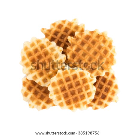 waffles isolated on white background