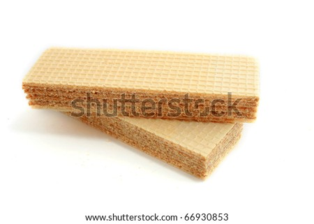 waffles on a white background - stock photo