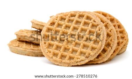 waffles on white background  - stock photo