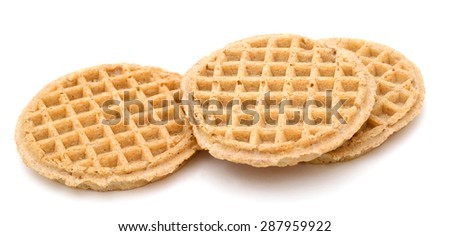 waffles on white background