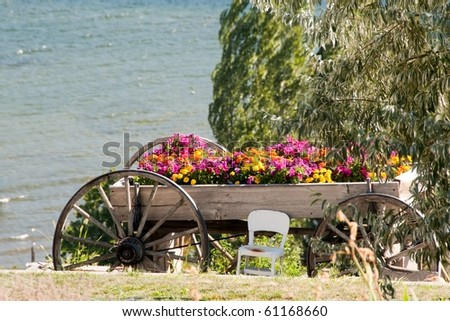 Wagon Filled with Flowers