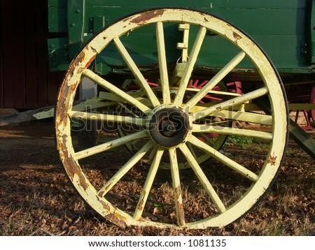 Wagon Wheel - stock photo