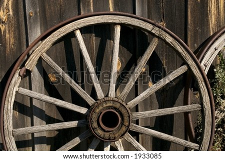 Wagon wheel at rest