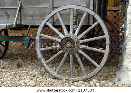 Wagon wheels showing the passing of time