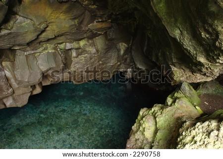 Waianapanapa Cave - stock photo