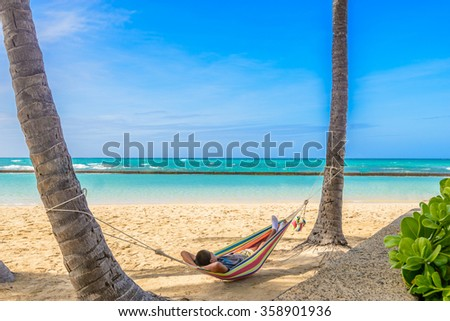 Waikiki Beach in Honolulu, Hawaii - stock photo