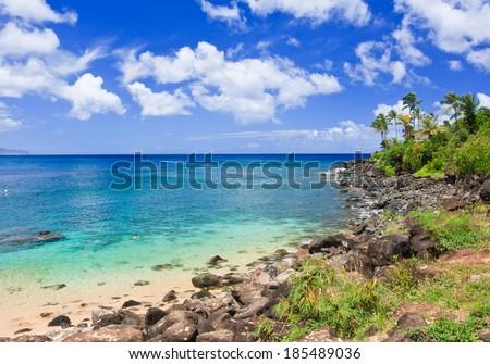 Waimea Bay Beach, Oahu, Hawaii  - stock photo