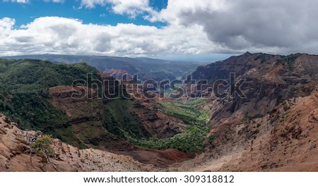Waimea Canyon in Kauai, Hawaii - stock photo