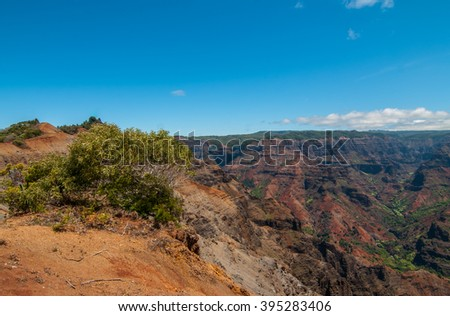 Waimea Canyon Overlook in Kauai Hawaii