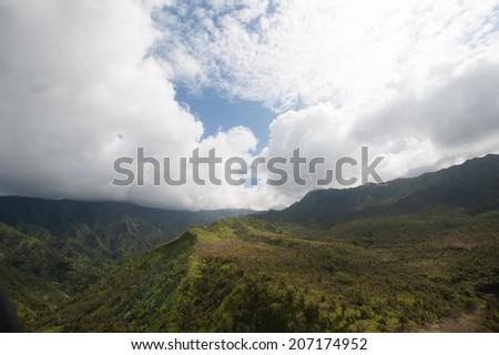 Waimei Canyon - stock photo