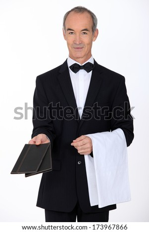 Waiter - stock photo