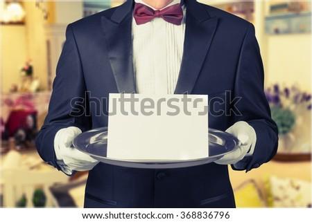 Waiter. - stock photo