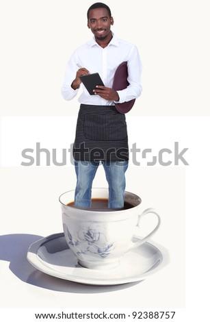 Waiter taking order - stock photo